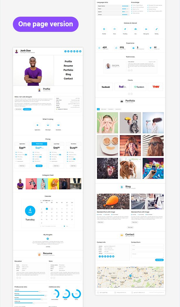 Ukiecard Ultimate Personal Responsive Cv Bootstrap Vcard Html