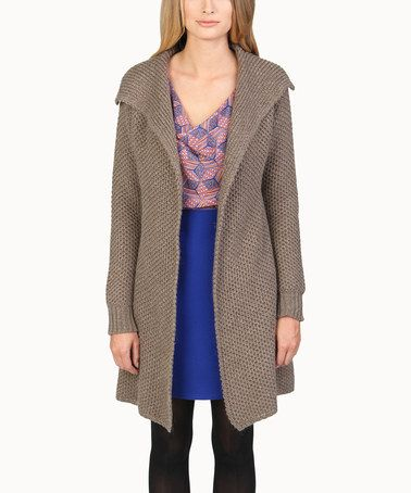 Take a look at this Taupe Open Duster by Evette & K on #zulily today! $35 !!