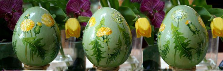 ceramiczne jajo malowane naszkliwnie w pracowni BorysArt