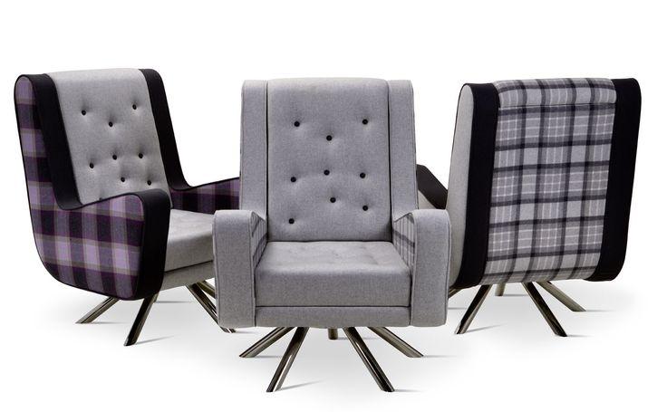 Gulp family - Winter 2014 -  #relaxarmchair #tartanfabric #scozzese #tessutiinteriordesign #poltronarelax