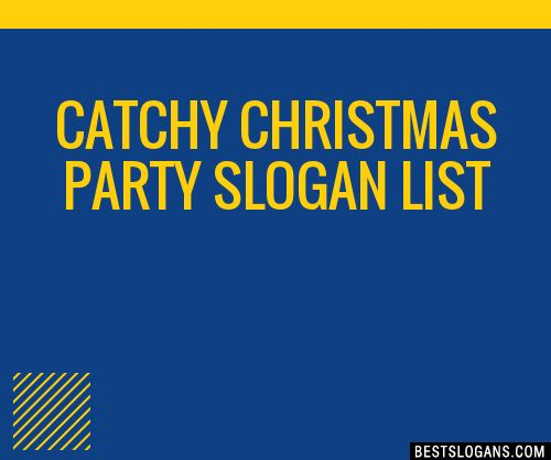 30+ Catchy Christmas Party Slogans List, Taglines, Phrases & Names 2017