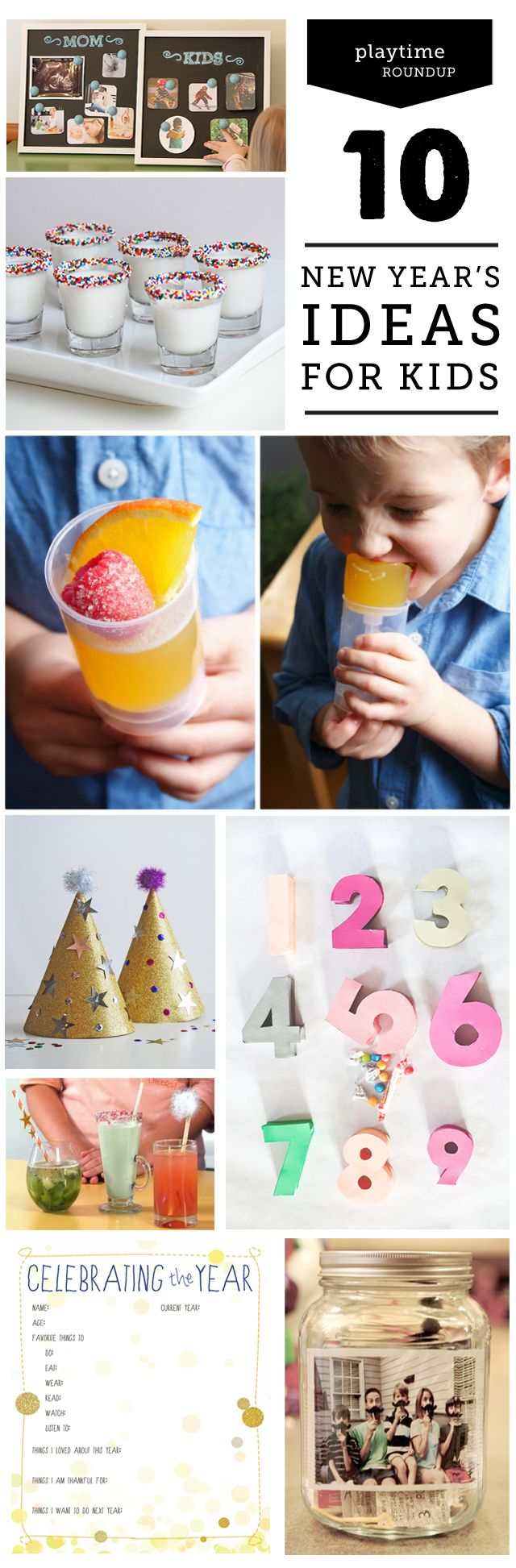 Awesome ideas on how to celebrate New Year's Eve as a family.  We're definitely doing #3 and #5 this year!:
