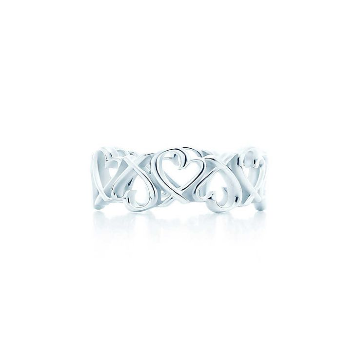Paloma Picasso 174 Loving Heart Band Ring Lovely Little