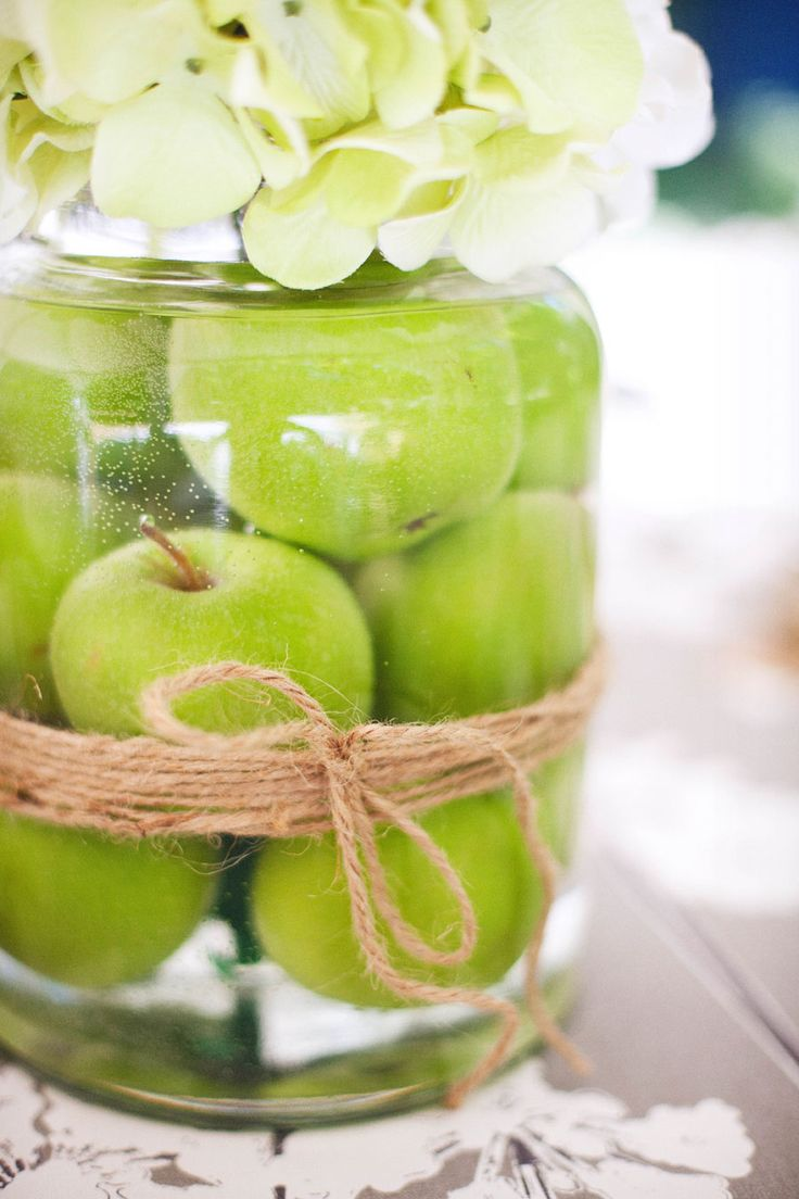 Apple decorations wedding - 63 Ideas To Incorporate Apples Into Your Wedding