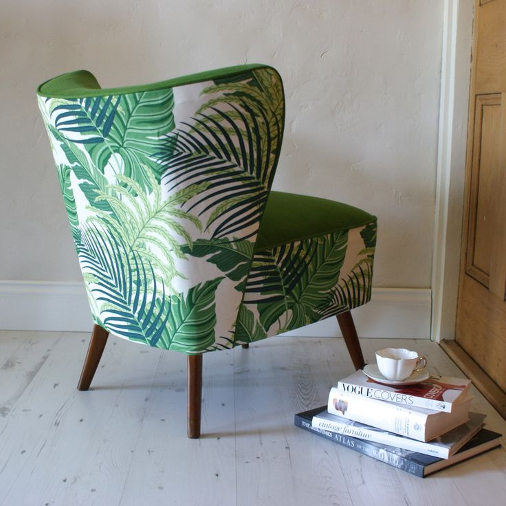 1950s Sanderson Jungle Kin Cocktail Chair by DUNCOMBEOXLEYS on Etsy https://www.etsy.com/listing/232260391/1950s-sanderson-jungle-kin-cocktail