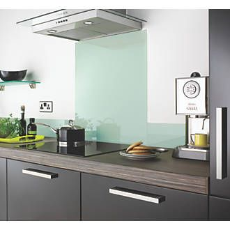 how to install a clear glass splashback