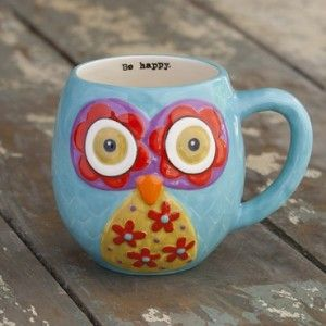 owl mugs | You are here: Home / Shop / Mugs / Teal Owl Mugs, NLMUG152