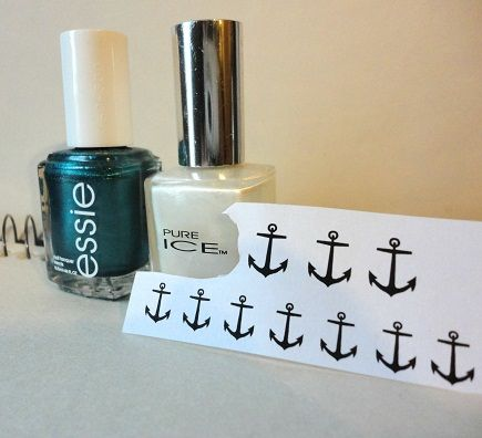 How to put a design on your nails with only using a printer, a cotton ball, and some alcohol!