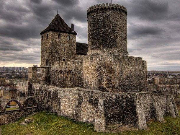 This stone castle, the Bedzin Castle in Silesian, Poland dates back to the 14th century.