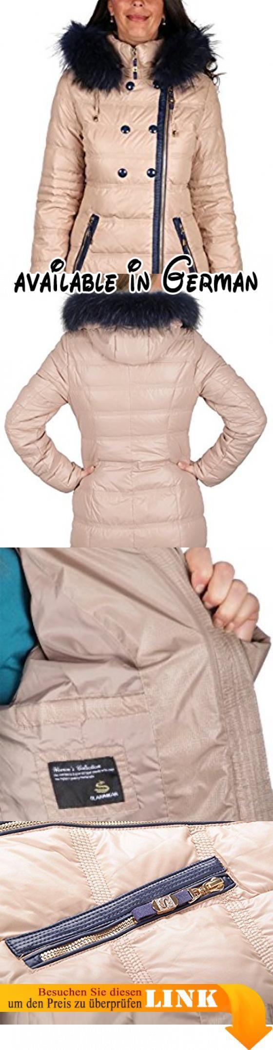 """7759 Damen Daunenjacke """"Olanmear"""" mit Echtfellkapuze (40, braun). Füllung: 80% Daune, 20% Federn. abnehmbare Kapuze mit Echtfell (Fell /Waschbär - abnehmbar). Durchgehender Zwei-Wege-Reißverschluss. Zwei seitliche Zippertaschen, 1 Innentasche. Elastische Bündchen am Ärmel #Apparel #OUTERWEAR"""