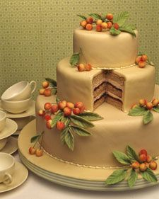 I could eat this entire cake... right now... for breakfast... Cherry Almond Cake (Martha Stewart): Cherries Almonds, Fun Recipes, Idea, Modern Wedding Cakes, Almonds Cakes, Martha Stewart, Almond Cakes, Wedding Cakes Recipes, Fall Wedding