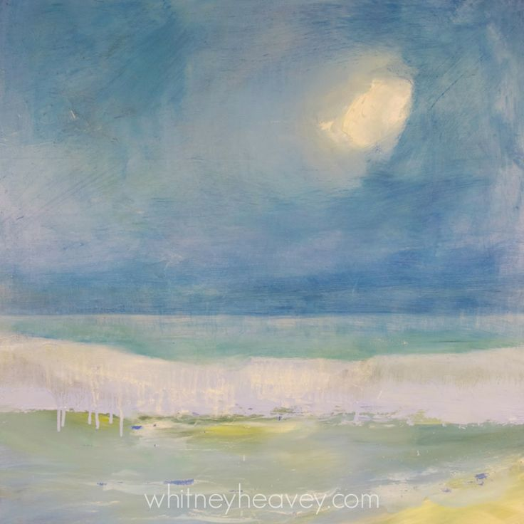 August Moon. Oil Painting By Cape Cod Artist, Whitney
