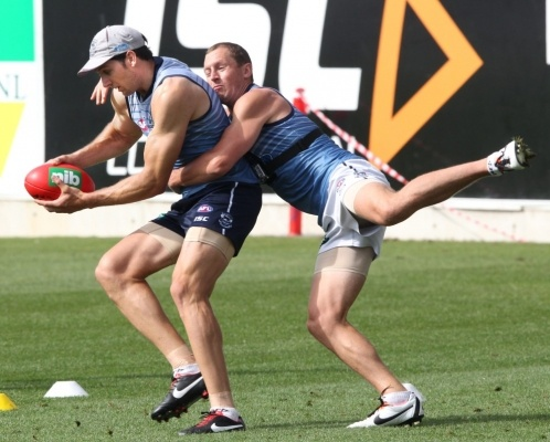 Harry and Kelly.....Geelong Cats training - Feb 25, 2013 - Photo Gallery | Geelong Advertiser | geelongadvertiser.com.au