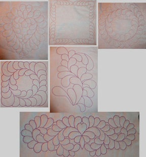 Machine Embroidery Quilting Designs Just Feathers