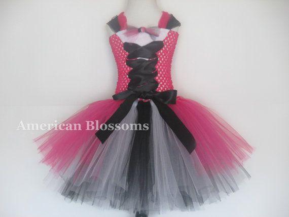 Monster High Tutu Dress Costume Girls Monster by AmericanBlossoms, $54.00