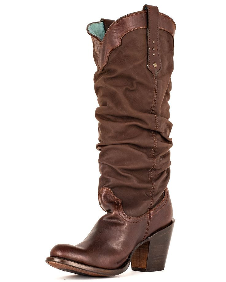 Corral Women's Chocolate Saltillo Slouch Boot - because every lady needs a little honky tonk in her wardrobe