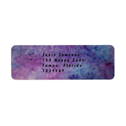 purple and blue return address labels - return address gifts label