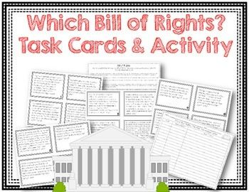 Which Bill of Rights? ~ Bill of Rights Task Card Activity $