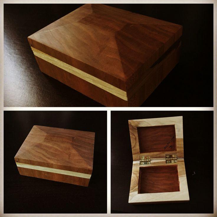 Small cherry and maple wood box. By Josh Bondesen