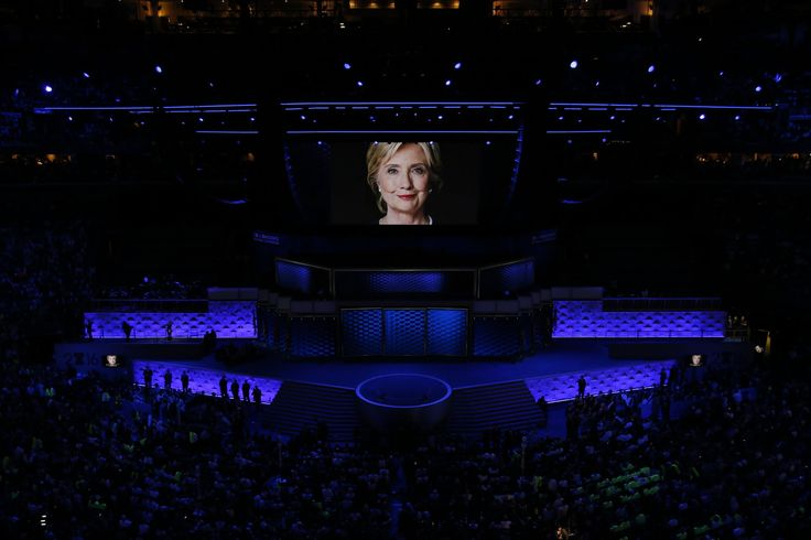 PHILADELPHIA 7/28/2016 Hillary Clinton appeared on a video at the Democratic National Convention.  Josh Haner/The New York Times
