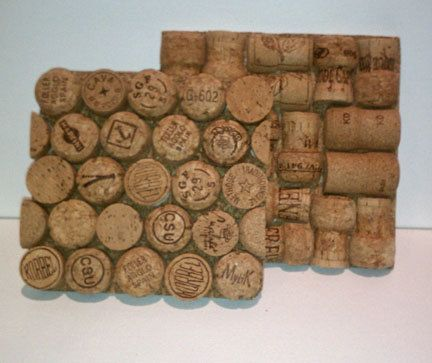Champagne cork trivet...oh so us!