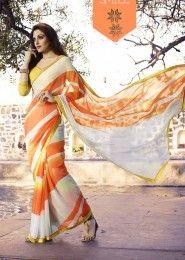 Casual Wear  Georgette Multi Colour Printed Saree