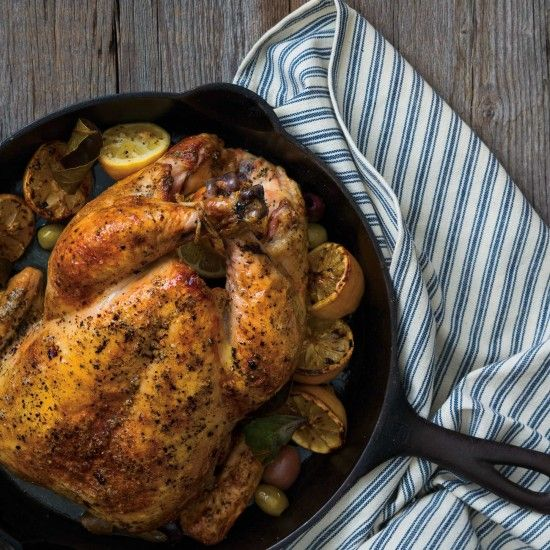 Roasted Lemon Myrtle Chicken - a brand new spin on roast chicken. Will be great in the crockpot!!