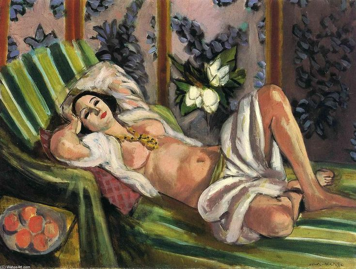 'Odaliske', öl auf leinwand von Henri Matisse (1869-1954, France)