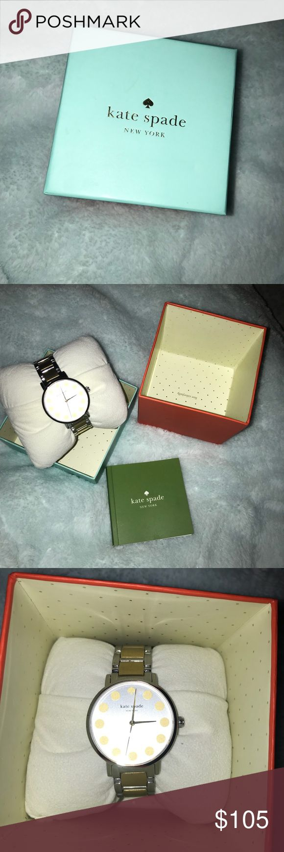 FLASH SALE!!!!! KATE SPADE WATCH Kate Spade watch. Comes with instructions manual. Does not come with batteries. Used maybe once. Water resistant, gold and silver. kate spade Accessories Watches