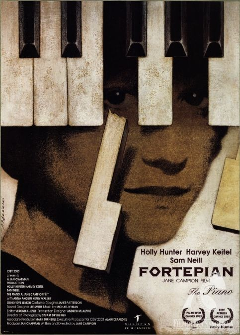 Fortepian (The Piano) - Andrzej Pągowski's poster  to Jane Campion's 1993 movie.