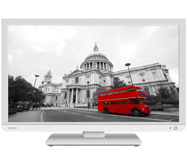 "Buy TOSHIBA 24D3434DB Smart 24"" LED TV with Built-in DVD Player 