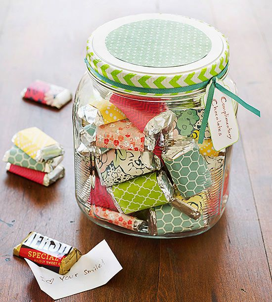 A collection of sweet sentiments—each wrapped around a chocolate candy—makes a delectable present for that someone you just can't say enough good things about!