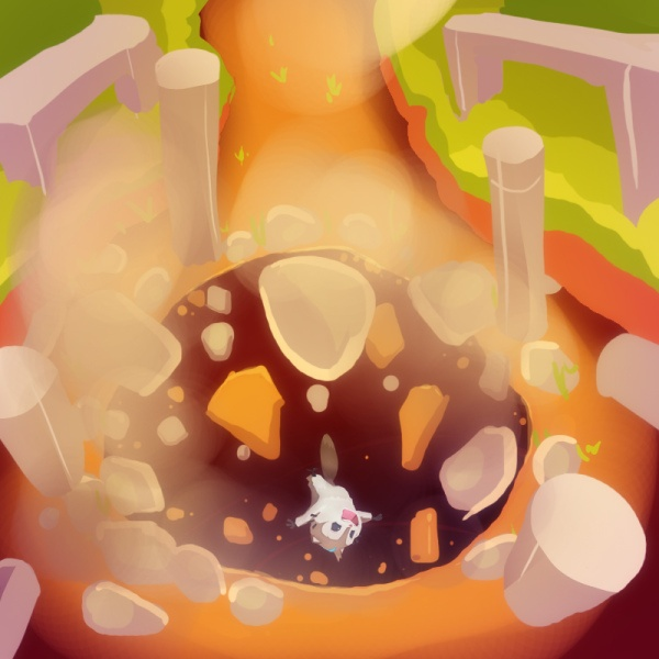 Concept Art - Momo is getting trapped in a cave. Who set up this trap?#Game #design #MomongaPinballAdventures #Conceptart