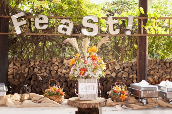 feast wedding sign