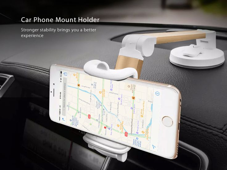 HOCO P6 Car Phone Mount Desktop Holder Foldable Aluminum Alloy Handle with Suction Cup