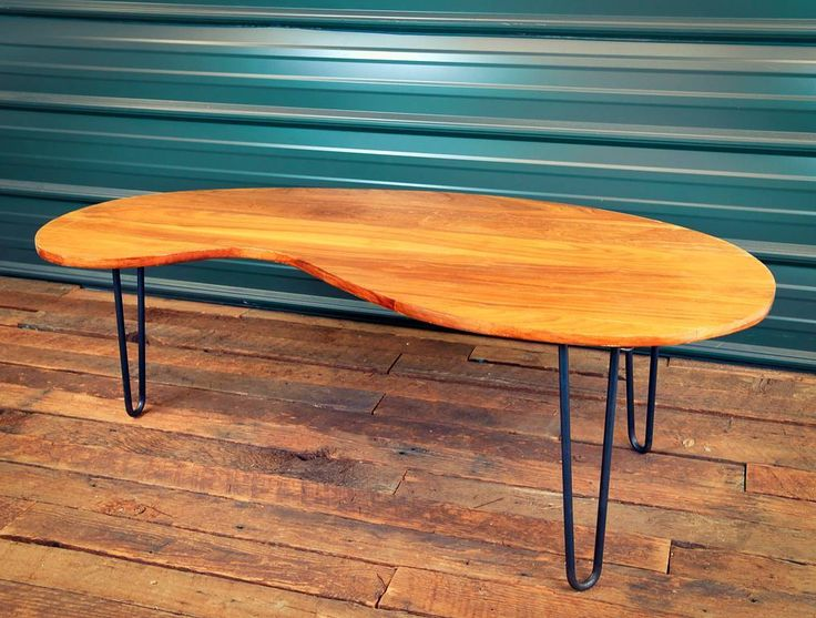 """Well, we finally did it. We caved. We were beatniks. But in the end, we couldn't deny the most iconic of mid century furniture legs. The Hairpin. But, like our craftsmanship and customer service, we do them better than anyone else. A full 5"""" square, 1/4"""" thick mounting plate beefs it up. Pick your size. Pick your finish. (""""Brass Gold"""" powder coat coming soon)  https://steeltablelegs.com/little-hairpin-legs-2-rod 