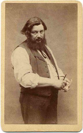 Né le 10 juin 1819 à Ornans, près de Besançon (Doubs), et mort le 31 décembre 1877 à La Tour-de-Peilz en Suisse, GUSTAVE COURBET est un peintre français, chef de file du courant réaliste. Son réalisme fait scandale. Ami de Proudhon et proche des anarchistes, il est l'un des élus de la Commune de Paris de 1871. Accusé d'avoir fait renverser la colonne Vendôme, il est condamné à la faire relever à ses propres frais. Réfugié en Suisse, il meurt avant d'avoir commencé à rembourser. -Wikipedia