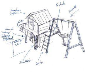 Baumhäuser für KInder - handgefertigt von Almhütte Naturholz Manufaktur aus heimischem Naturholz aus Lärche - für Kindergärten und den privaten Garten.