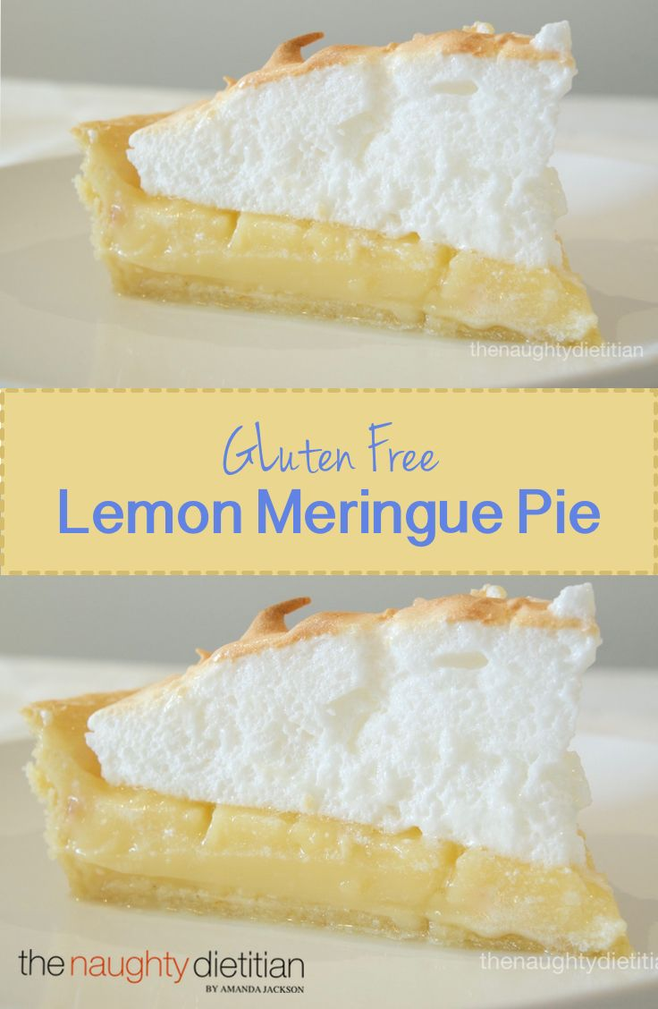 You won't be disappointed with thisyummy Gluten Free Lemon Meringue Pie. The recipe serves 12 but you might be tempted to keep it all to yourself! | www.thenaughtydietitian.com | Gluten Free Pies | Easy Gluten Free Recipes | Gluten Free Pie Recipes | Gluten Free Dessert | Easy Dessert |Lemon Meringue | Biscuit Base | Lemon Curd | Easy Dessert Recipes | Gluten Free Recipe | Best Homemade Recipes | Homemade