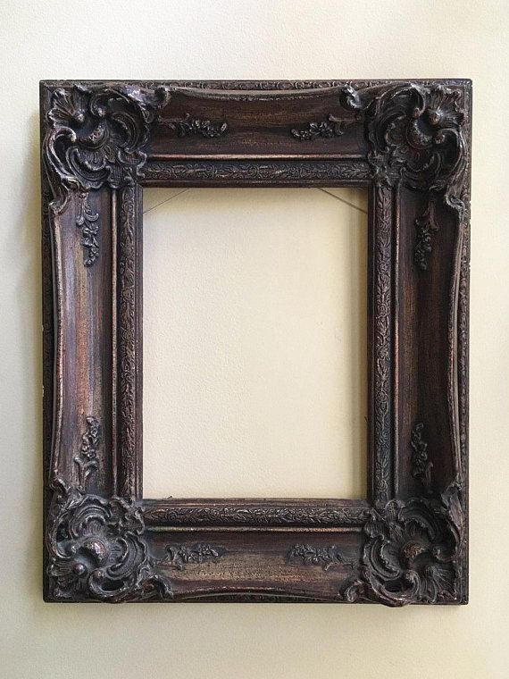 Vintage Frame Wall Frame Oval Frame For Wall Mirror Frame Wood Etsy In 2020 Wood Picture Frames Frames On Wall Framed Mirror Wall