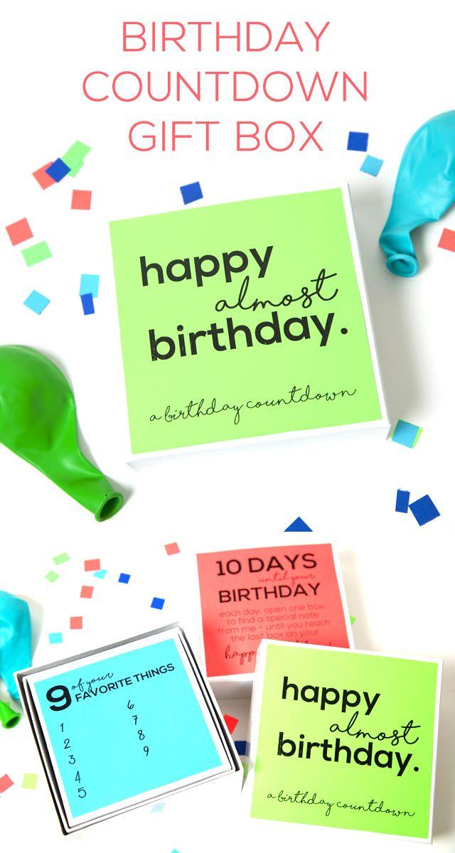 Birthday Countdown Gift Box - Eighteen25