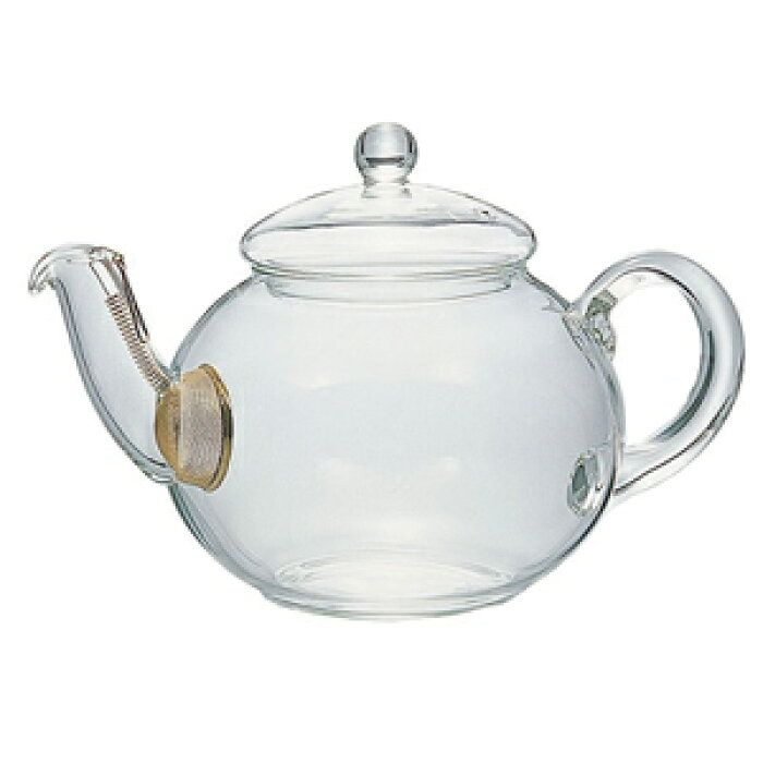 Handmade Heat Resistant Pitting Side Rosewood Handle Clear Glass Teapot 200ml