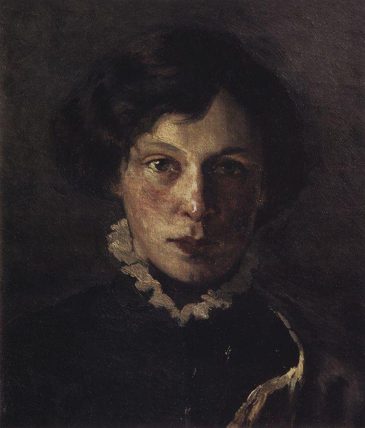 Михаил Васильевич Нестеров - Портрет М.И. Нестеровой, первой жены художника, 1886