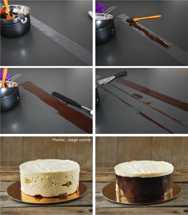 17 mejores im genes sobre ideas decorar pasteles en pinterest tartas tutoriales y glaseados - Decoracion con chocolate ...