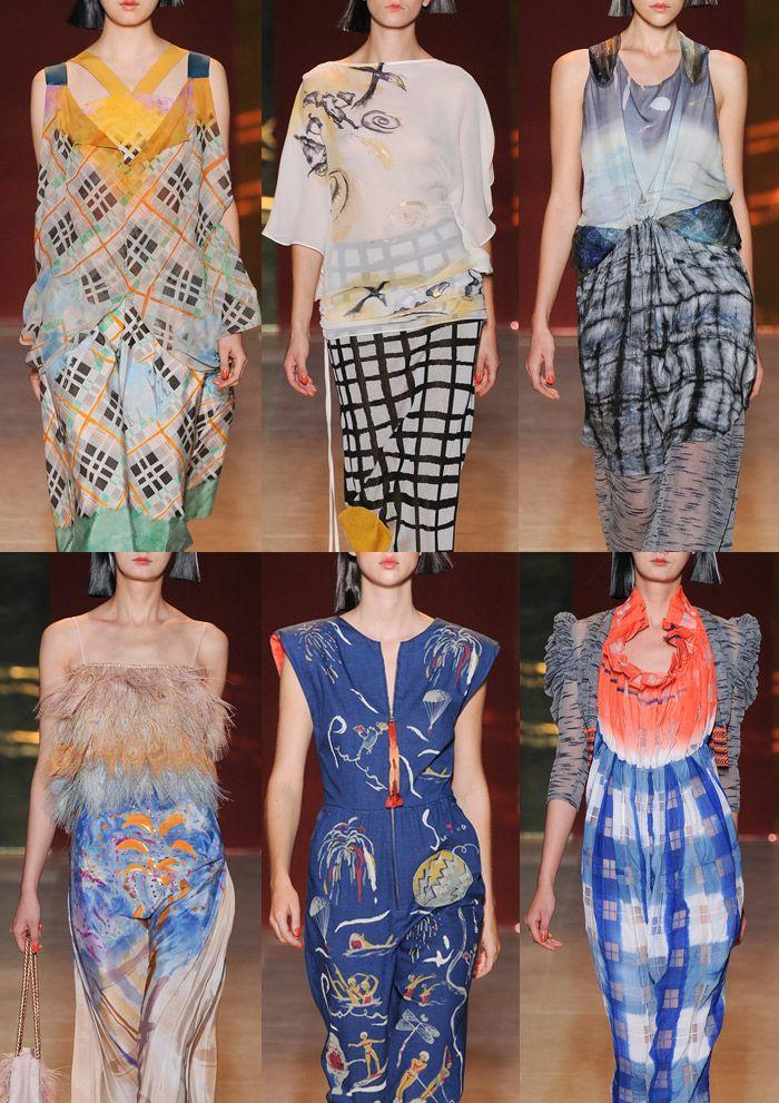 Tsumori Chisato - Paris Fashion Week – Spring/Summer 2014 – Print Highlights Part 2
