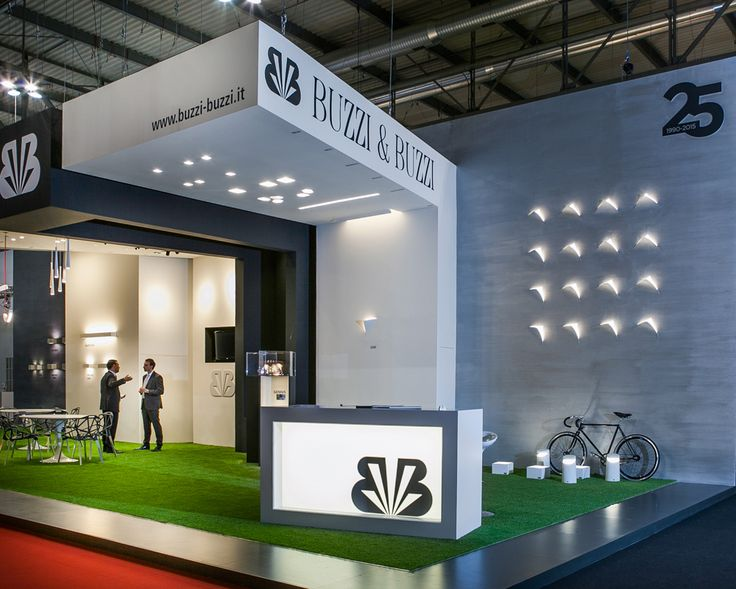 Our booth at Euroluce 2015