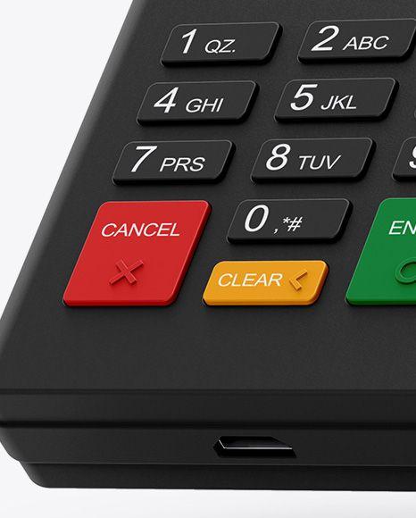 Mobile Payment Terminal Mockup #button #cashbox #cc #creditcard #EFTPOS #electro…