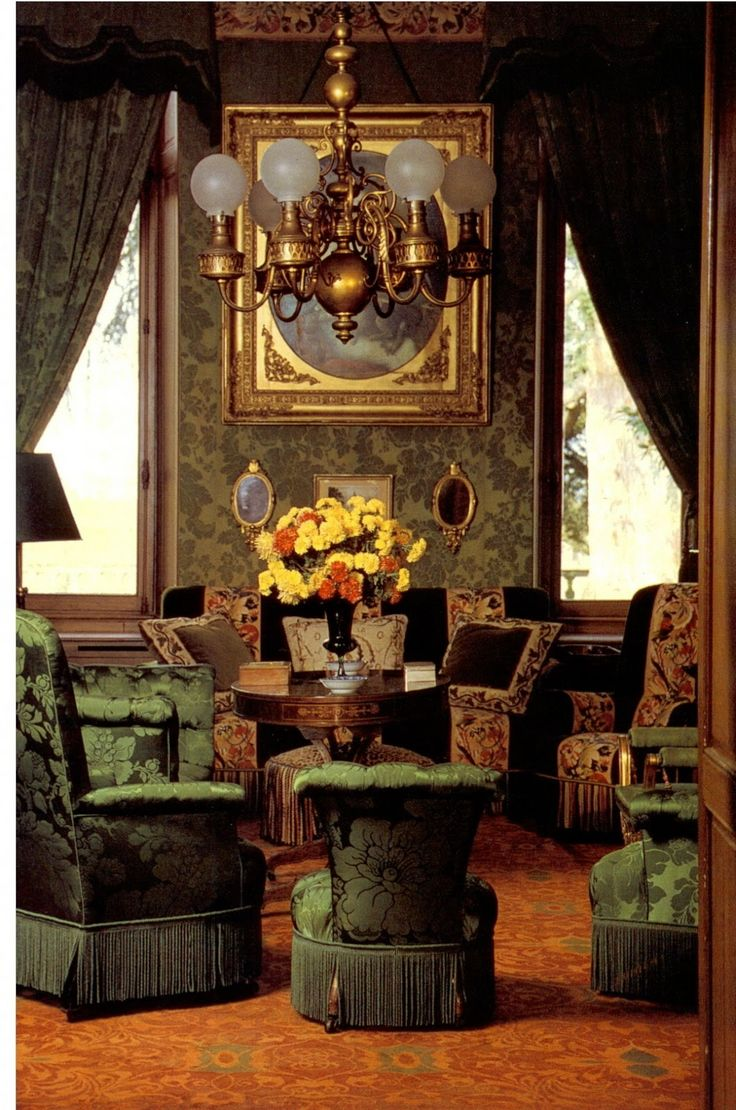 ♜ Shabby Castle Chic ♜ rich and gorgeous home decor - Green Room - Chateau Lafite Rothschild
