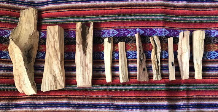 "10 pcs Palo Santo Holy Wood Incense Sticks - 7 pcs 4"", 2 pcs 6"" & 1 pc 9"" - Peru"