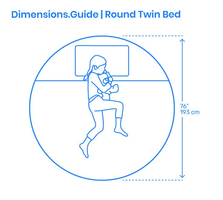 The Round Twin Bed Is A Soft Modern Bed Manufactured In Circular